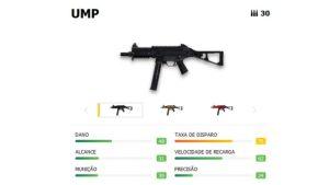 La velocidad de disparo y la velocidad de recarga convierten al UMP en un arma rápida esencial al comienzo del partido.