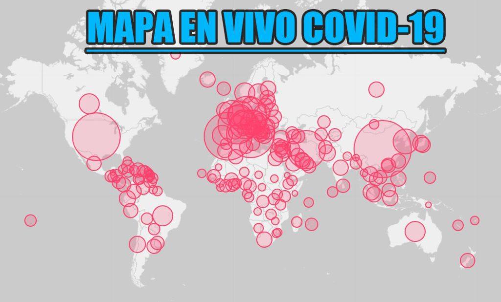 Mapa en vivo del covid 19 o coronavirus